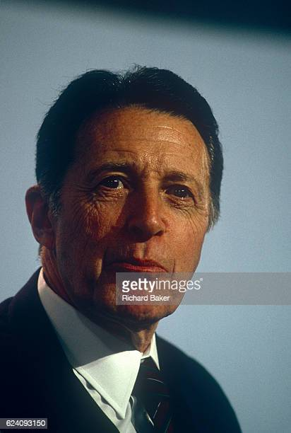 US politician Casper Winberger listens to speeches while a guest at the Conservative party conference on 12th October 1989 in Blackpool England...