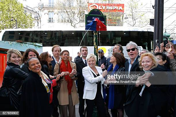Politician Christiane Taubira journalist Daniel Lauclair French Minister of OutreMer George PauLangevin First Deputy Mayor of Paris responsible for...