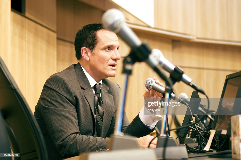Politician Debating : Stock Photo