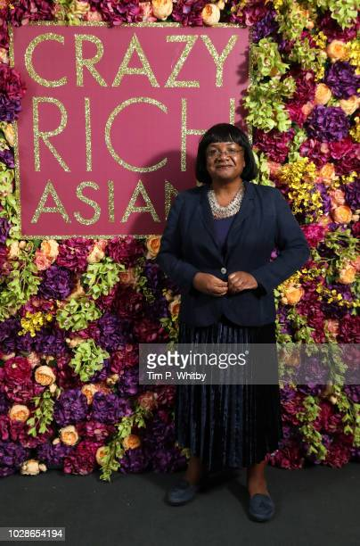 Politician Diane Abbott attends a special screening of 'Crazy Rich Asians' Hosted By MOBO at Dolby Preview Theatre on September 7 2018 in London...