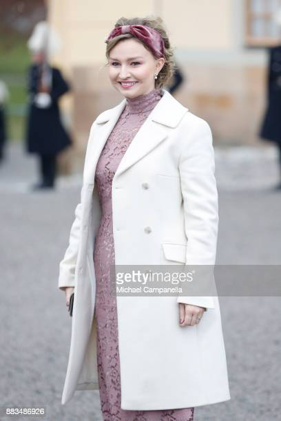 Politician Ebba Busch Thor attends the christening of Prince Gabriel of Sweden at Drottningholm Palace Chapel on December 1 2017 in Stockholm Sweden