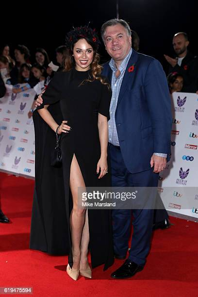 Politician Ed Balls and dancer Katya Jones attend the Pride Of Britain Awards at The Grosvenor House Hotel on October 31 2016 in London England