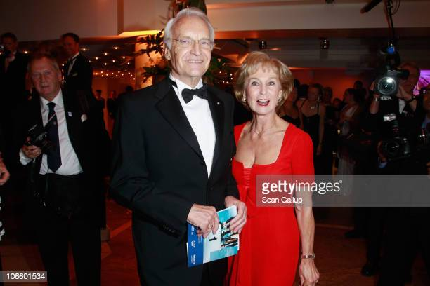 Politician Edmund Stoiber and his wife Karin Stoiber attend the Sportpresseball 2010 at Alte Oper on November 6 2010 in Frankfurt am Main Germany