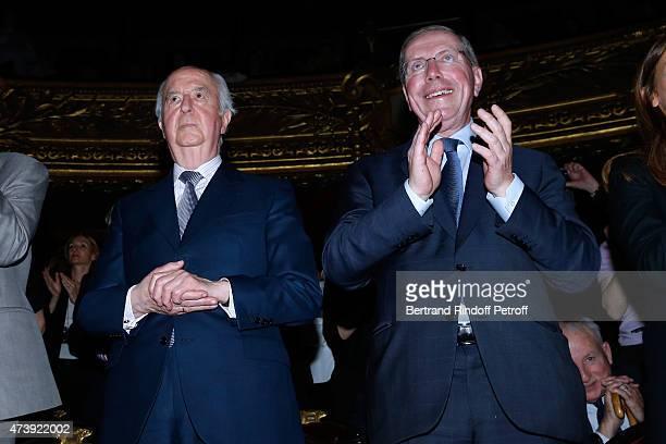 Politician Edouard Balladur and President of Opera de Paris Bernard Stirn attend Star Dancer Aurelie Dupont says goodbye to the Paris Opera...