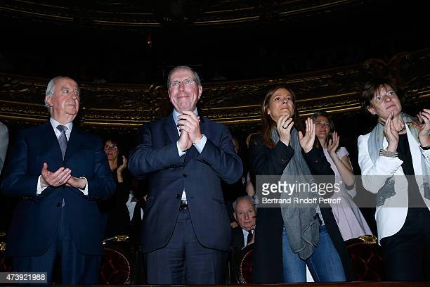 Politician Edouard Balladur President of Opera de Paris Bernard Stirn Violonist Anne Gravoin and Patricia Barbizet attend Star Dancer Aurelie Dupont...