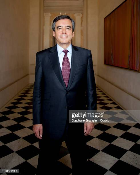 Politician Francois Fillon poses during a photoshoot on May 13 2016 in Paris France