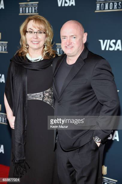 Politician Gabrielle Giffords and astronaut Scott Kelly attend 6th Annual NFL Honors at Wortham Theater Center on February 4 2017 in Houston Texas