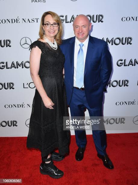 Politician Gabrielle Giffords and husband retured astronaut Mark Kelly attend the 2018 Glamour Women Of The Year Awards: Women Rise on November 12,...
