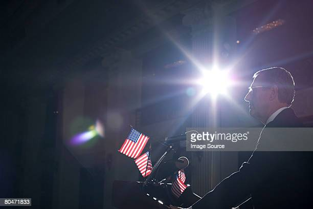 a politician giving a speech - talking politics stock pictures, royalty-free photos & images
