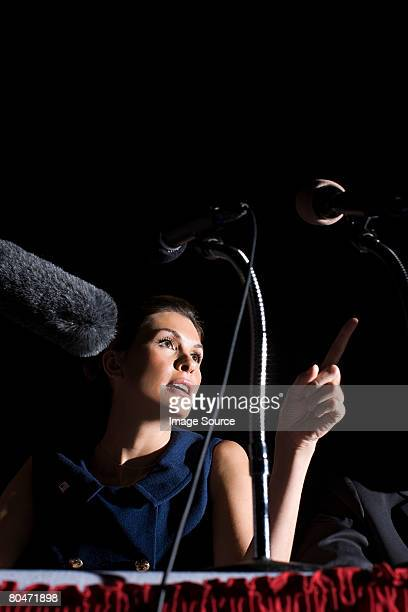 a politician giving a speech - politician stock pictures, royalty-free photos & images