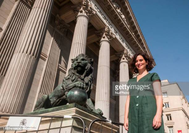 Politician Isabel Diaz Ayuso poses at the Congress of Deputies in Madrid Spain July 22 2019