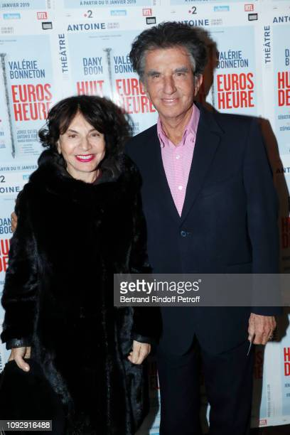 Politician Jack Lang and his wife Monique attend the Huit Euros de l'heure Theater Play at Theatre Antoine on January 11 2019 in Paris France