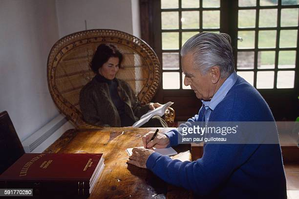 Politician Jacques ChabanDelmas and his wife Micheline at home