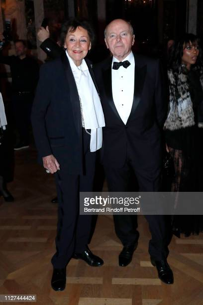 Politician Jacques Toubon and his wife Lise Toubon attend the 19th Gala Evening of the Paris Charter Against Cancer under the patronage of UNESCO and...