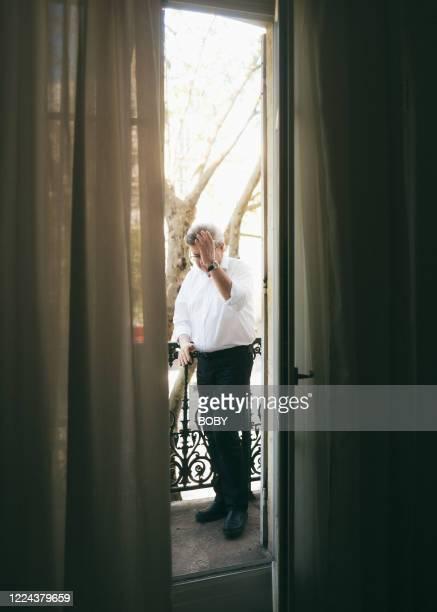 Politician Jean Luc Melenchon poses for a portrait on April 16 2020 in Paris France