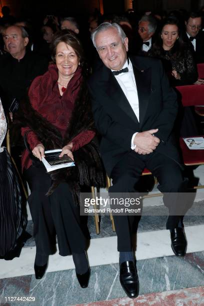 """Politician Jean-Pierre Raffarin and his wife Anne-Marie Raffarin attend the 19th Gala Evening of the """"Paris Charter Against Cancer"""" under the..."""