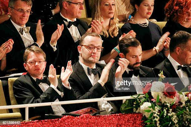 Politician Jens Spahn and Daniel Funke attend the 23rd Opera Gala at Deutsche Oper Berlin on November 5 2016 in Berlin Germany