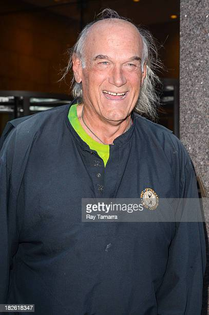 Politician Jesse Ventura leaves the Sirius XM Studios on October 1 2013 in New York City