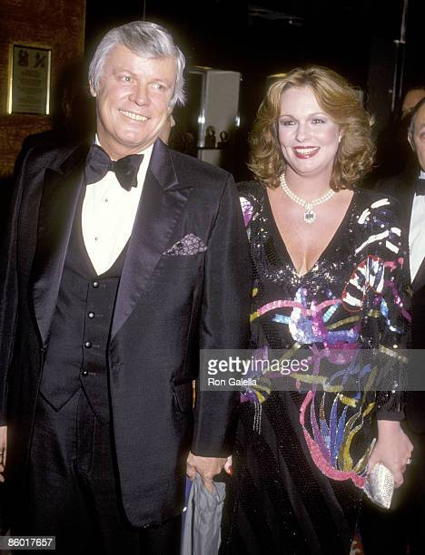 Politician John Y Brown Jr and TV personality Phyllis George attend Gloria Steinem's 50th Birthday Celebration on May 23 1984 at The WaldorfAstoria...