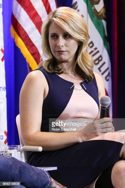 Politician Katie Hill attends the 25th Congressional District Democratic Candidate Debate Presented by NextGen America at The Canyon on May 8, 2018...