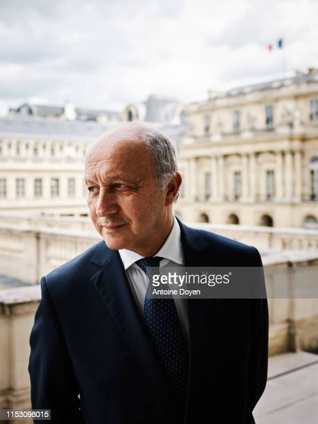 Politician Laurent Fabius poses for a portrait on May 29, 2019 in Paris, France.