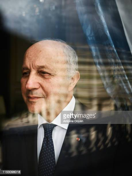Politician Laurent Fabius poses for a portrait on May 29 2019 in Paris France