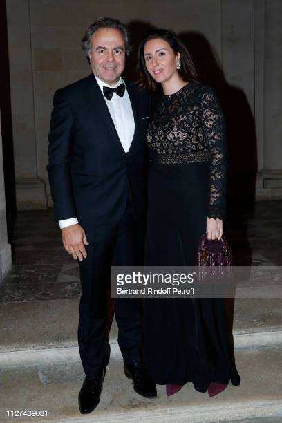 Politician Luc Chatel and his companion Mahnaz Hatami attend the 19th Gala Evening of the Paris Charter Against Cancer under the patronage of UNESCO...