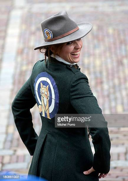 Politician Marianne Thieme of Party for the Animals attends celebrations for Prinsjesdag on September 17 2013 in The Hague Netherlands