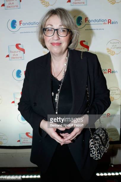 Politician MarieAnne Montchamp attends the 13th Gala of the 'Fondation du Rein Kidney Foundation' on March 12 2019 in Paris France