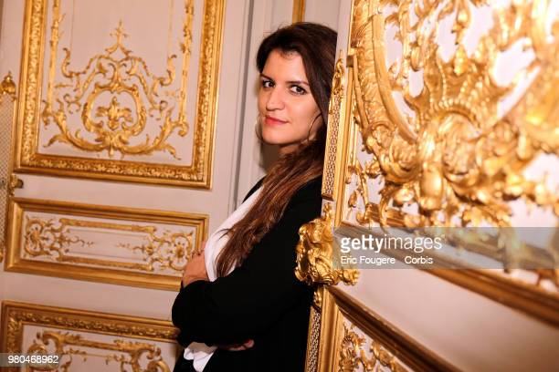 Politician Marlene Schiappa poses during a portrait session in Paris, France on .