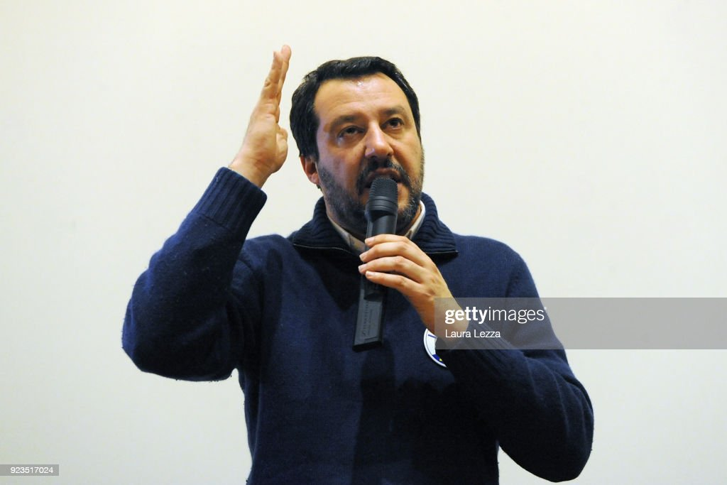 Matteo Salvini Attends Political rally in Livorno