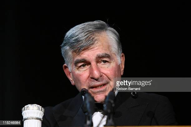 Politician Michael Dukakis attends the 2011 Gabby Awards at Ellis Island on June 4 2011 in New York City