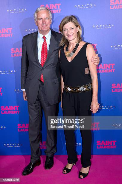 Politician Michel Barnier and wife Isabelle attend the 'Saint Laurent' movie premiere at Centre Pompidou on September 23 2014 in Paris France