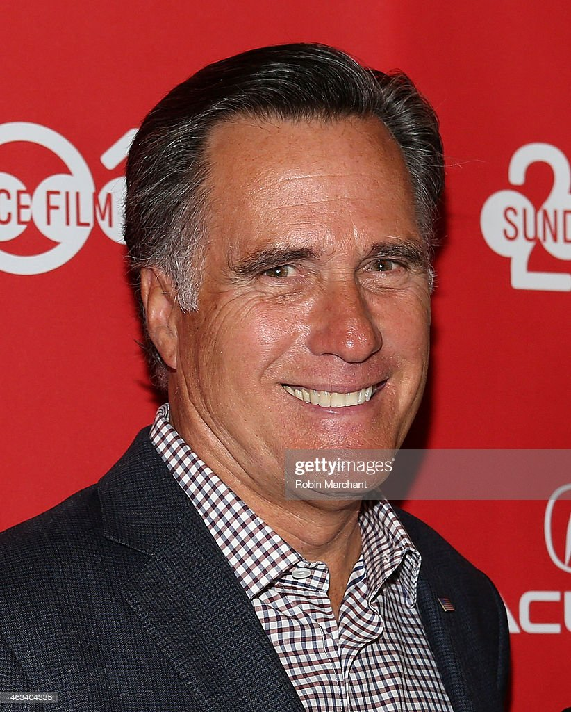 Politician Mitt Romney attends 'Mitt' Premiere for the 2014 Sundance Film Festival at Rose Wagner Performing Arts Center on January 17, 2014 in Salt Lake City, Utah.