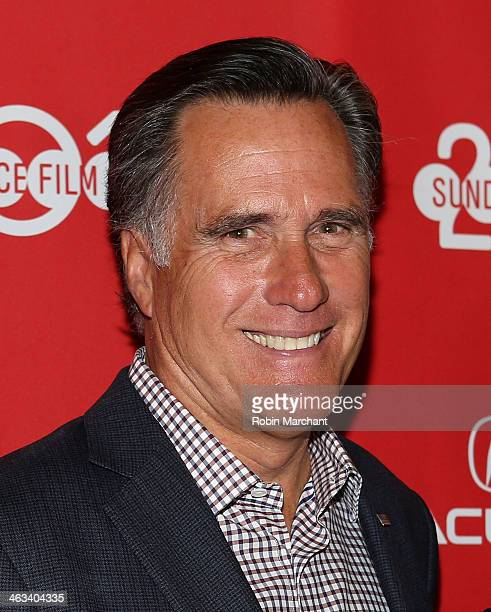 Politician Mitt Romney attends 'Mitt' Premiere for the 2014 Sundance Film Festival at Rose Wagner Performing Arts Center on January 17 2014 in Salt...