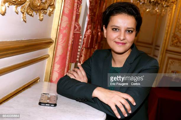 Politician Najat VallaudBelkacem poses during a portrait session in Paris France on