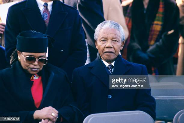 Politician Nelson Mandela and wife Winnie Mandela are photographed in 1990 in New York City CREDIT MUST READ Ken Regan/Camera 5 via Contour by Getty...