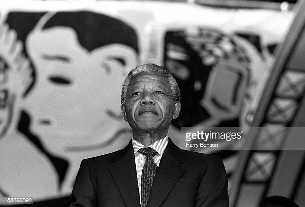 Politician Nelson Mandela is photographed for People Magazine in 1990 in South Africa