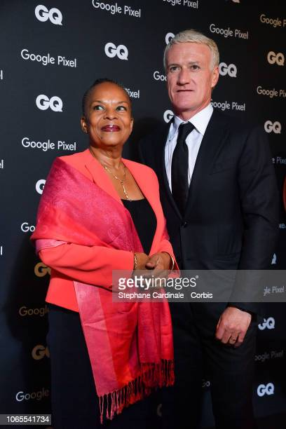 Politician of the decade Christiane Taubira and Didier Deschamps GQ French Manager of the decade attends GQ Men Of The Year Awards 2018 at Centre...