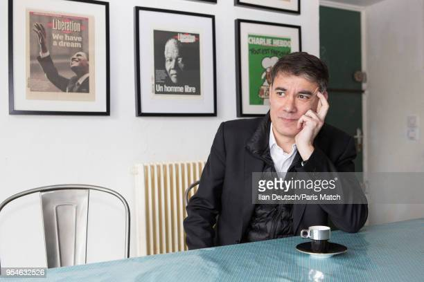 Politician Olivier Faure leader of the French Socialist party is photographed by Paris Match in SavignyLeTemple on March 23 2018