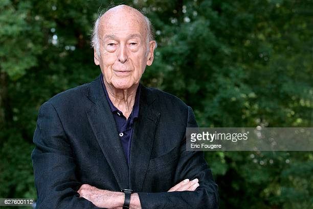 Politician Valery Giscard d'Estaing Photographed in PARIS
