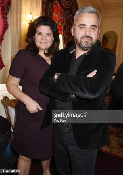 "Politicians Alexis Corbiere and Raquel Garrido attend ""Sardou Regards"" Bastien Kossek's Book Launch at Hotel Raphael on April 15, 2019 in Paris,..."