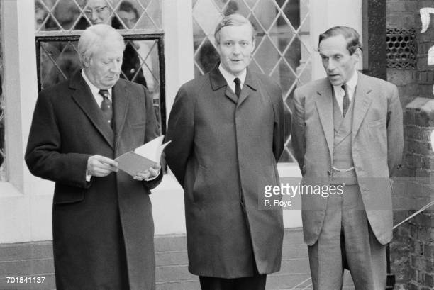 Politicians at the opening of Attlee House on the Toynbee Hall Estate in East London 18th November 1971 From left to right Prime Minister Edward...