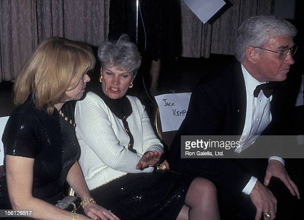 Politicians Betsy McCaughey Ross and Jack Kemp and wife attend CORE Martin Luther King Jr Holdiay Celebration Awards on January 20 1997 at the New...