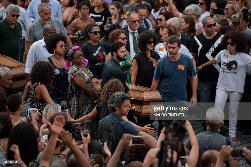 BRAZIL-CRIME-FRANCO-FUNERAL : News Photo