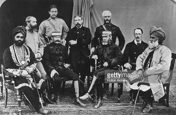 Politicians of various nationalities in Kabul Afghanistan a focus of British Persian and Russian rivalry for control of the Khyber Pass in the 19th...