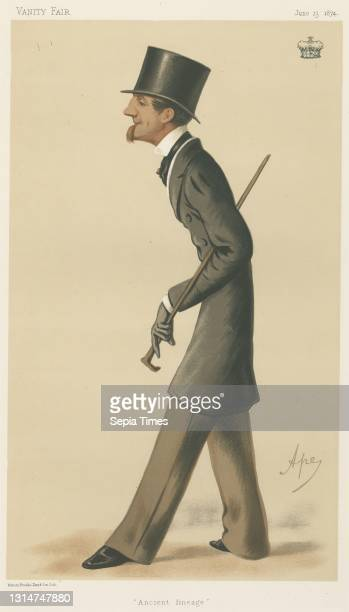 Politicians - Vanity Fair - 'Ancient lineage'. The Marquis of Bath. June 13 Carlo Pellegrini, 1839–1889, Italian Chromolithograph.