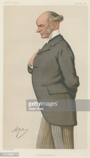 Politicians - Vanity Fair. 'heredictary eloquence'. The Rt. Hon. David Plunket. 29 May 1880, Carlo Pellegrini, 1839–1889, Italian Chromolithograph.