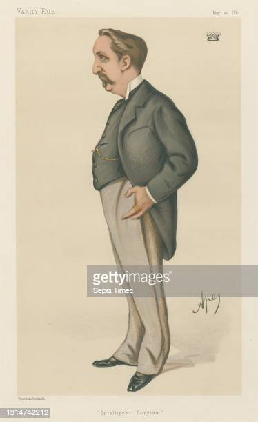 Politicians - Vanity Fair - 'Intelligent Toryism'. Baron Henry De Worms. May 22 Carlo Pellegrini, 1839–1889, Italian Chromolithograph.