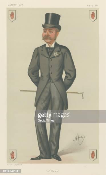 Politicians - Vanity Fair - 'of Newe'. Sir Charles John Forbes. August 14 Carlo Pellegrini, 1839–1889, Italian Chromolithograph.